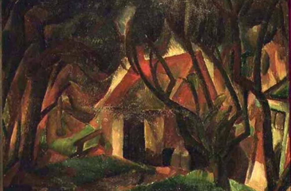 Voorbeeld van het gebruik van kubisme in landschappen. Leo Gestel schilderde deze Boerderij te Bergen in 1921 (foto: Frans Hals Museum).
