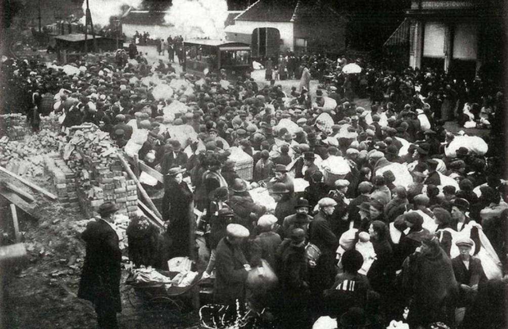 In 1914 kwamen duizenden Belgen naar Nederland, op de vlucht voor de oprukkende Duitse troepen (foto: SSEW).