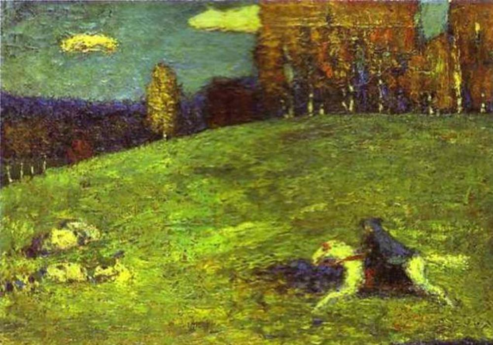 Der Blaue Reiter van Wassily Kandinsky uit 1903.