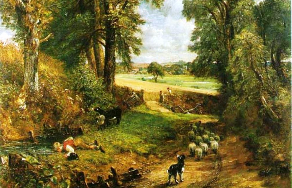 Het korenveld van de engelse schilder Constable. (foto:Wikimedia)