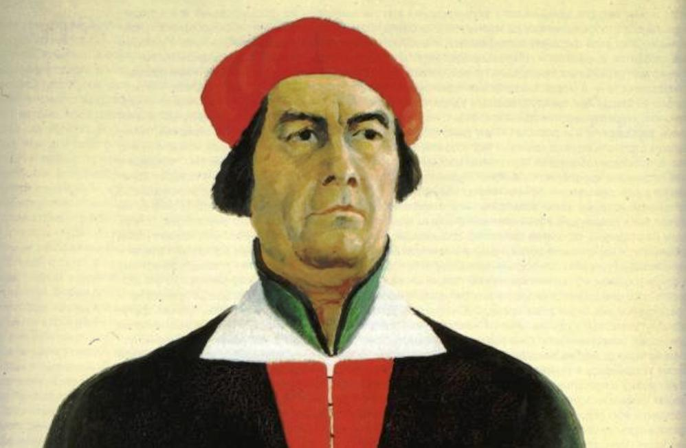 Zelfportret van Kazimir Malevitsj uit 1933 (foto: Wikimedia)