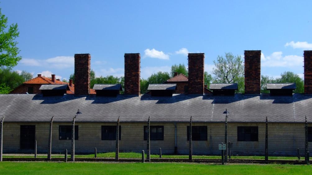Voormalig concentratiekamp Auschwitz-Birkenau (foto: Wikimedia)