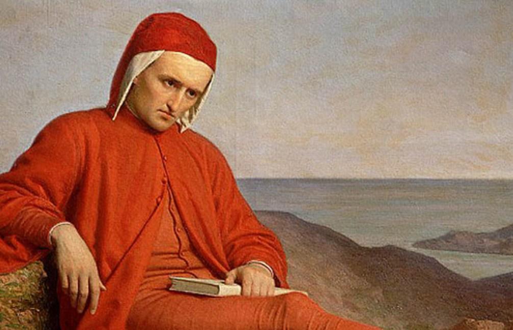 Foto: Dante in ballingschap, door een anonieme schilder