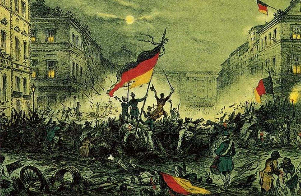 Foto: revolutie in Berlijn