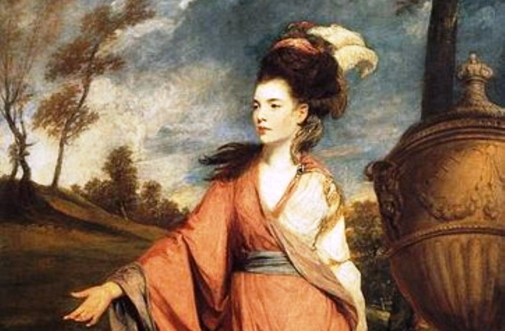 Foto: portret van Jane Fleming, gravin van Harrington, door Joshua Reynolds