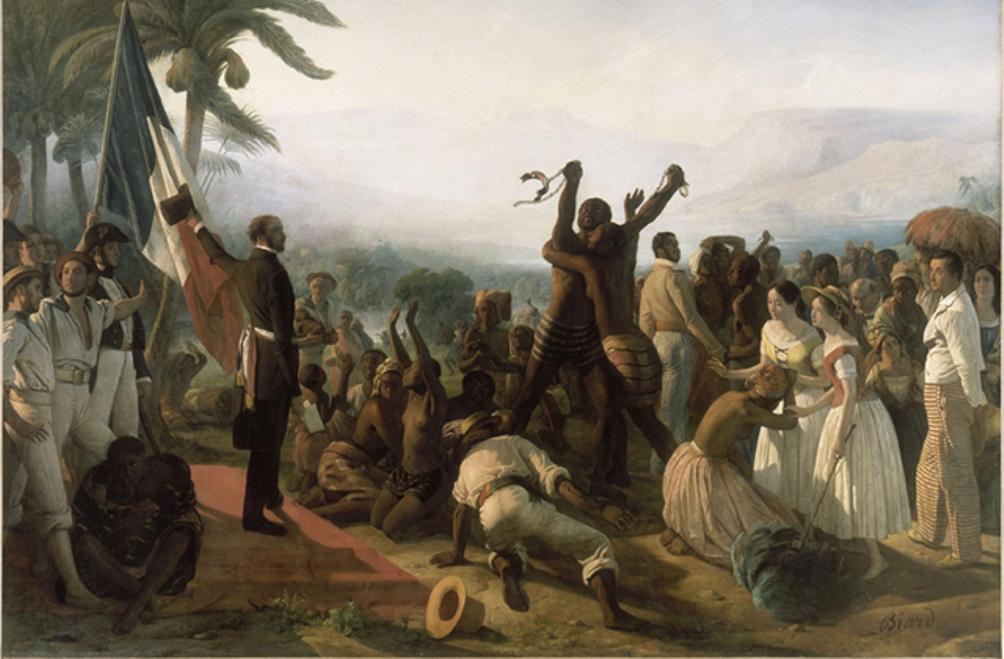 Foto: afschaffing van de slavernij in de Franse koloniën, François-Auguste Biard (1799-1882)