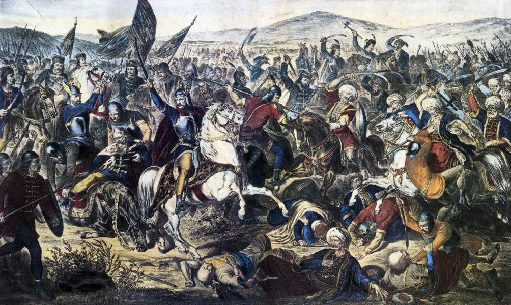De slag op het Merelveld. (foto: Wikimedia)