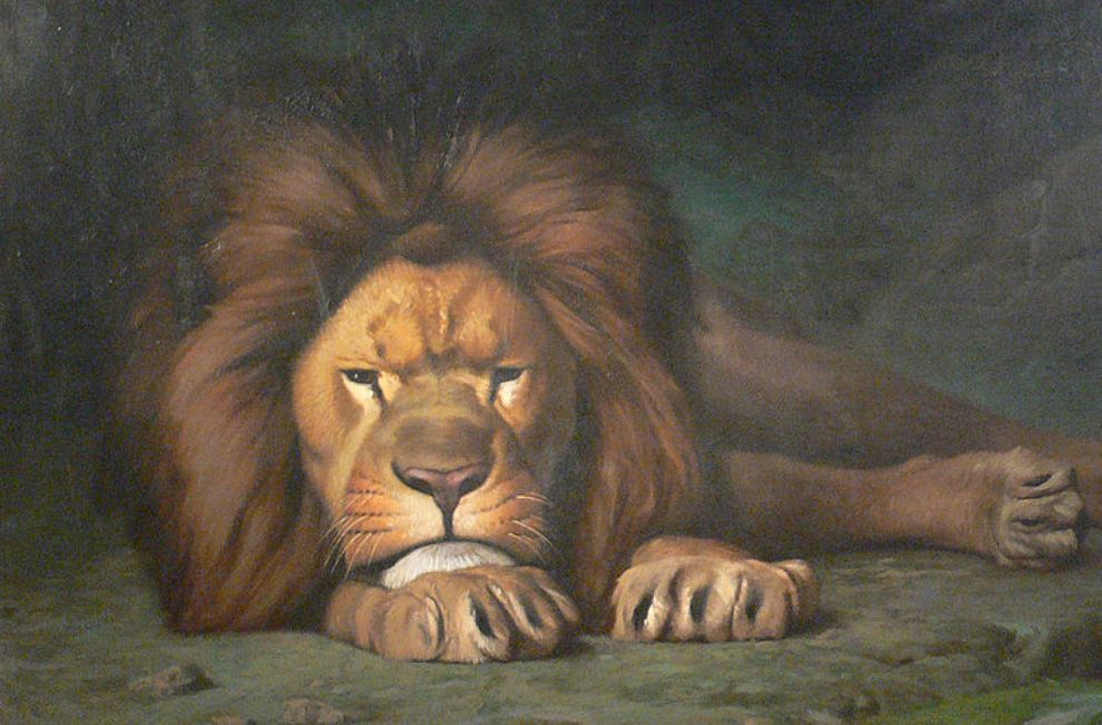 Foto: portret van een leeuw, Jean-Léon Gérôme (1824–1904)
