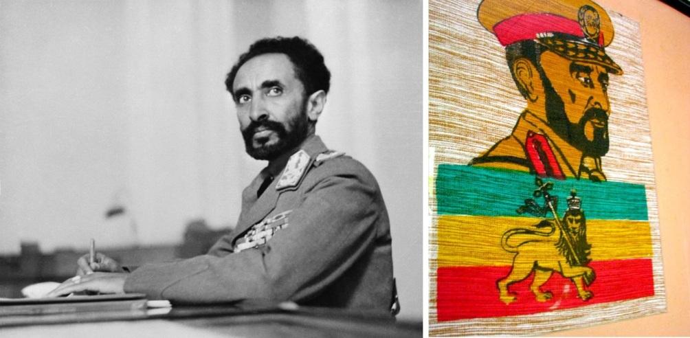 Niet alleen Keizer Haile Selassie van Ethiopie groeide uit tot het symbool van de Rastafari. Ook de ethiopische vlag met de leeuw van Juda werd door hun overgenomen. (Foto: Wikimedia)