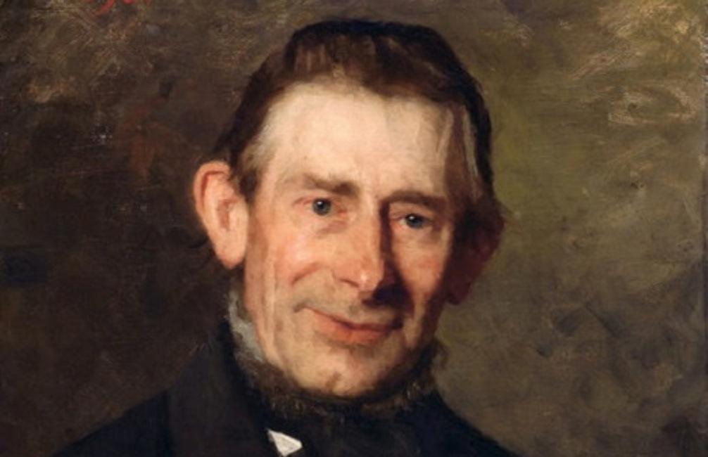 Foto: portret van Nicolaas Beets door Thérèse Schwartze