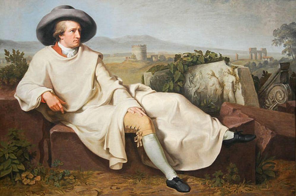 Foto: portret van Goethe door Johann Wilhem Tischbein