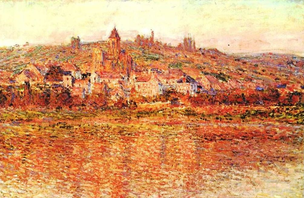 Foto: Vétheuil in de zomer, door Claude Monet