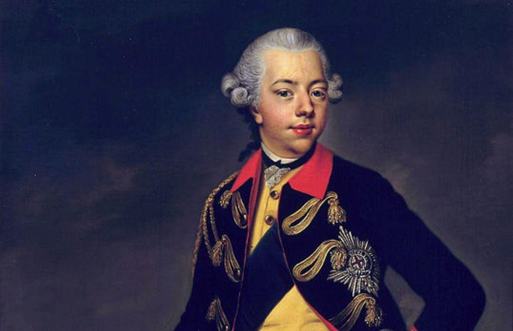 Foto: portret van stadhouder Willem V door Johann Georg Zisenis