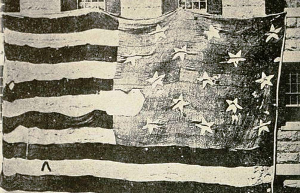 Foto: de vlag die Francis Scott Key inspireerde was extra groot zodat de Britten hem goed konden zien