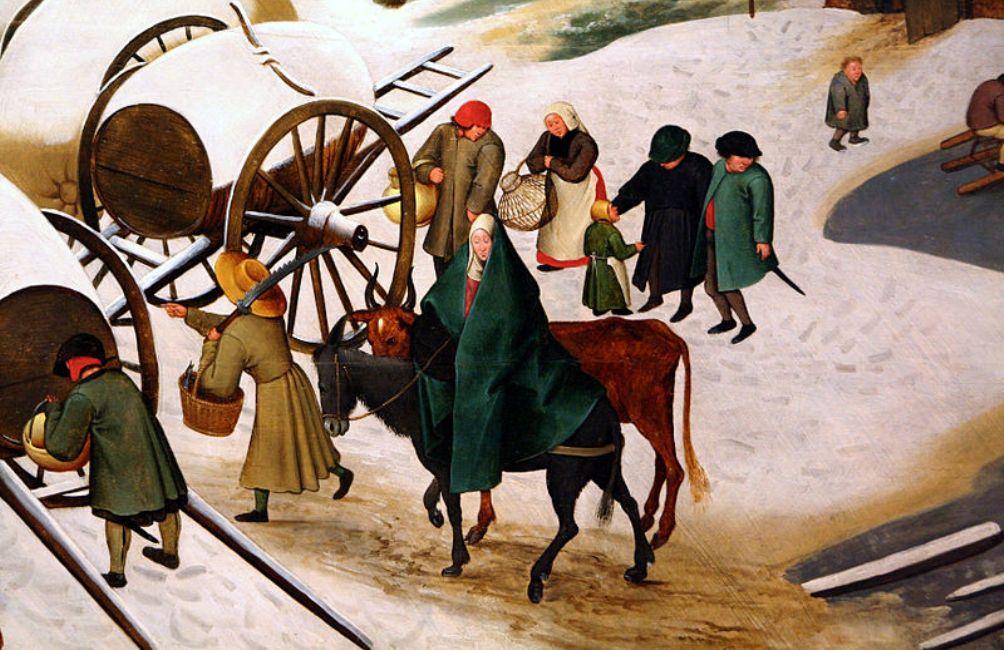 Foto: Volkstelling te Betlehem door Pieter Brueghel de Jonge