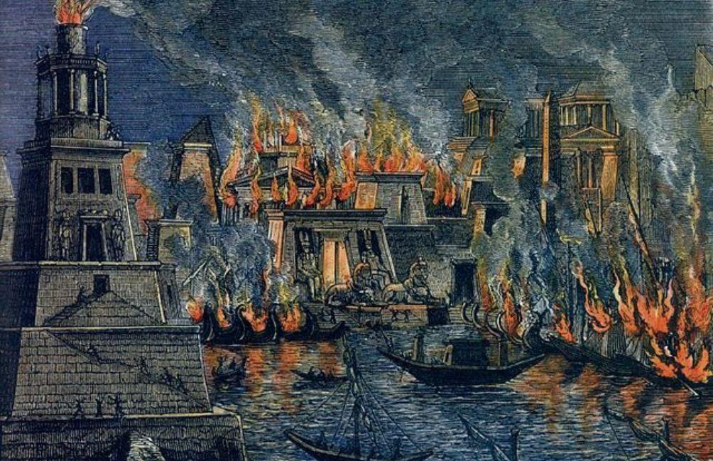 Foto: Hermann Göll, de brand van Alexandrië