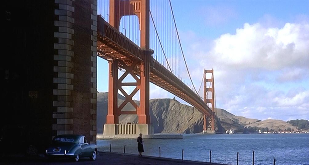 Beeld uit de film Vertigo van Alfred Hitchcock.