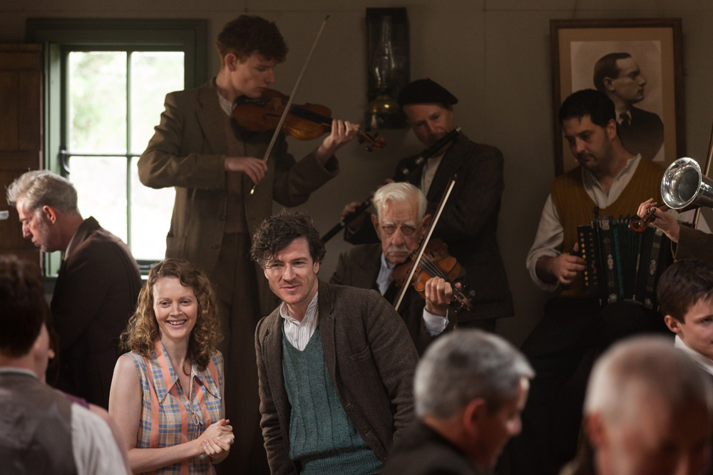 Barry Ward en Simone Kirby in Jimmy's Hall.