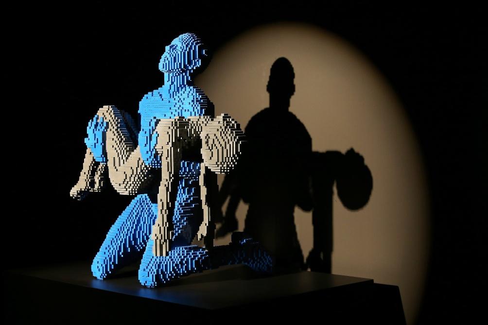 Een werk van Nathan Sawaya in de tentoonstelling The art of the Brick (foto: Amsterdam Expo / Carolien Sikkenk)