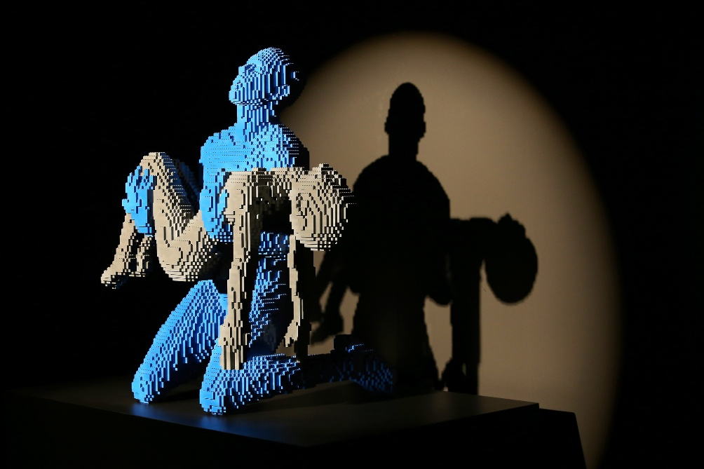 Een werk van Nathan Sawaya in de tentoonstelling The art of the Brick (foto: Amsterdam Expo / Carolien Sikkenk)