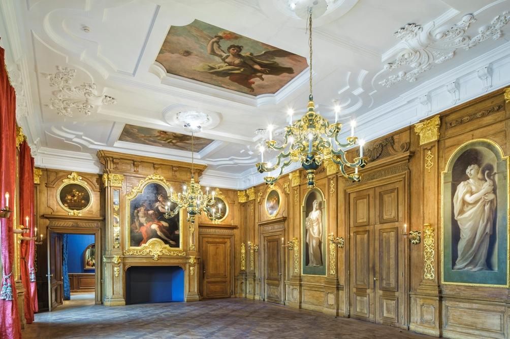 De Gouden Zaal van het Mauritshuis in 2014. Foto: Mauritshuis/Ronald Tilleman