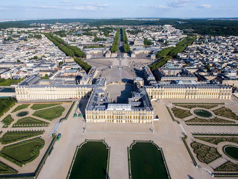 14.9.13 De bouw van Versailles.Overzichtsfoto