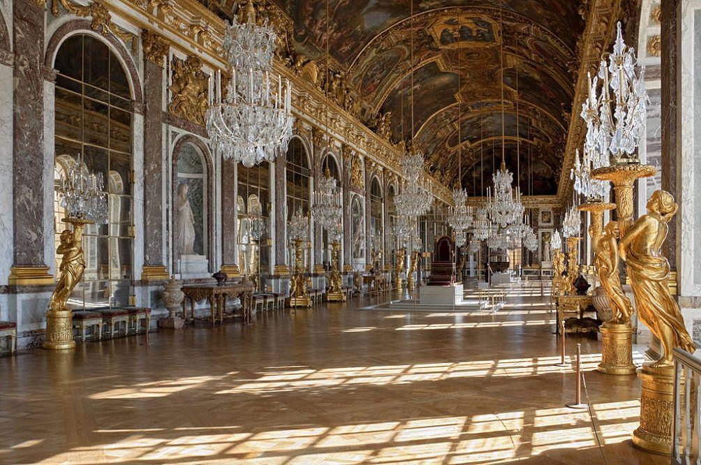 14.9.13 de bouw van Versailles.spiegelzaal