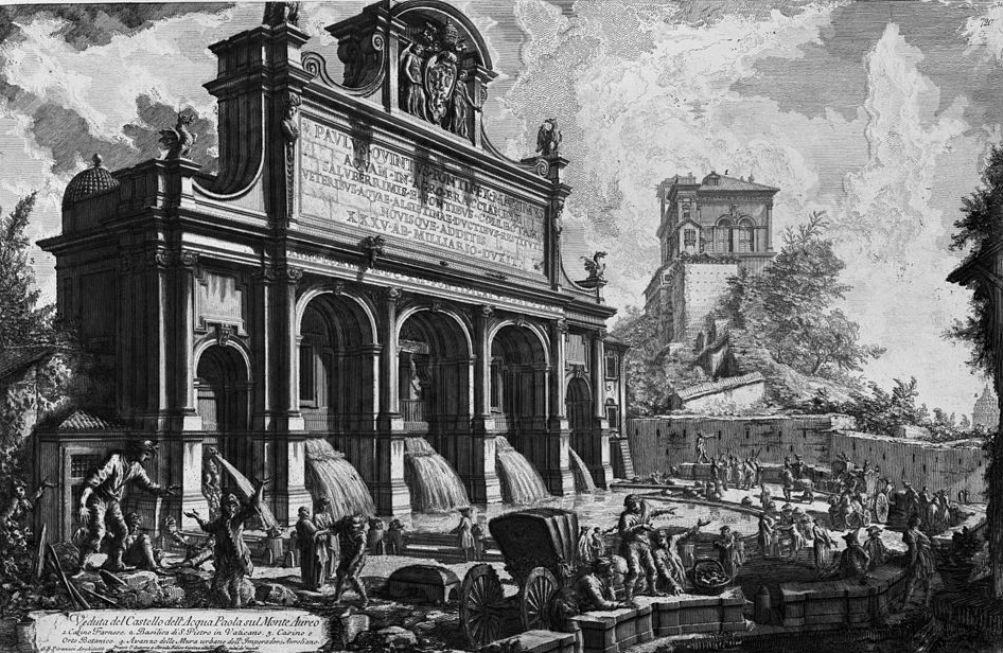 Piranesi Rome - Fontana dell'Acqua Paola