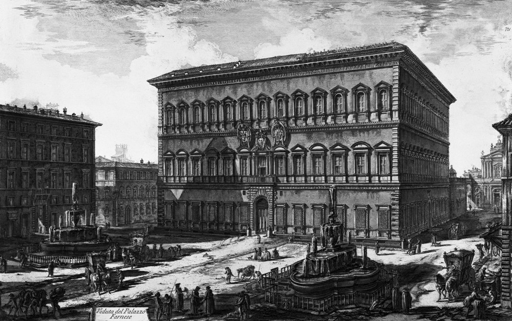 Piranesi Rome - Palazzo Farnese