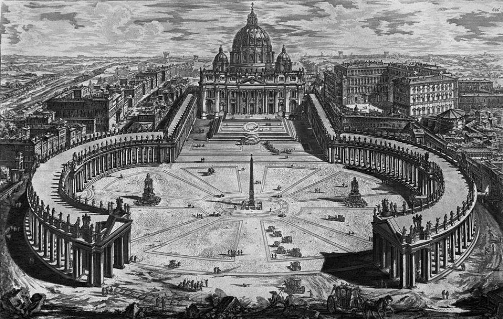 Piranesi Rome - St Pieter