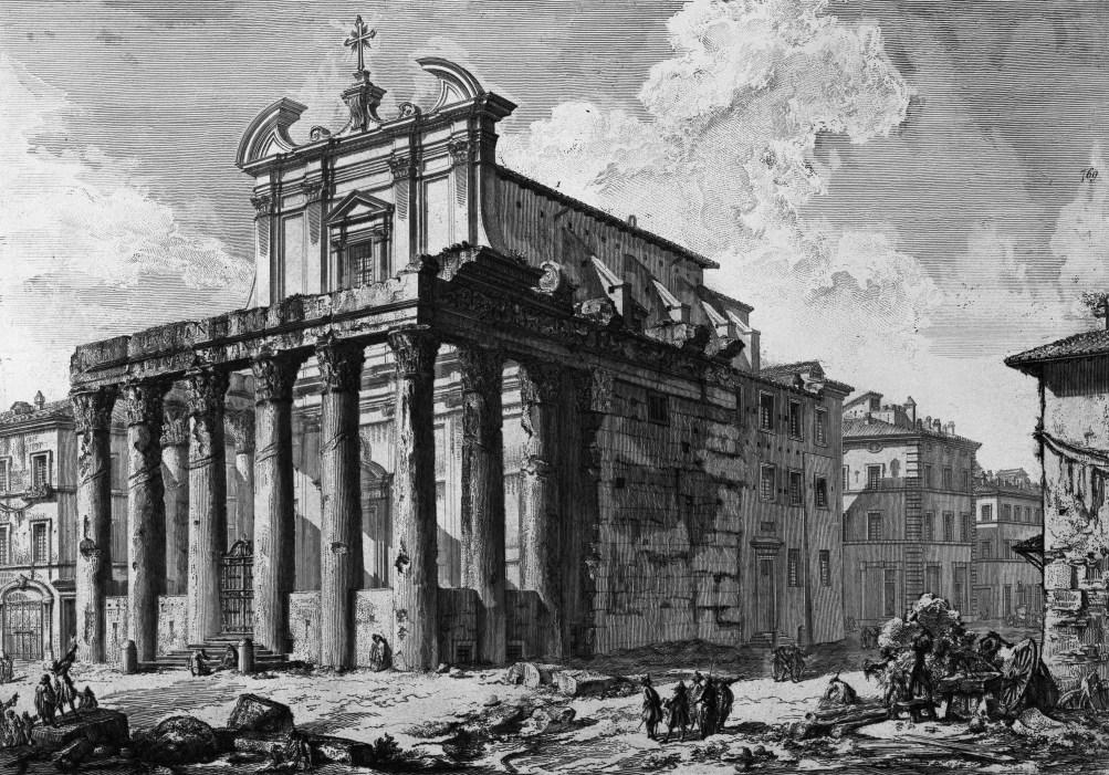Piranesi Rome - Tempel van Antoninus en Faustina