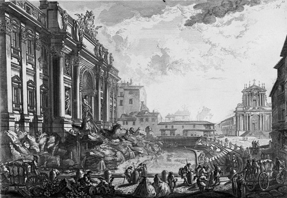 Piranesi Rome - Trevi fontein