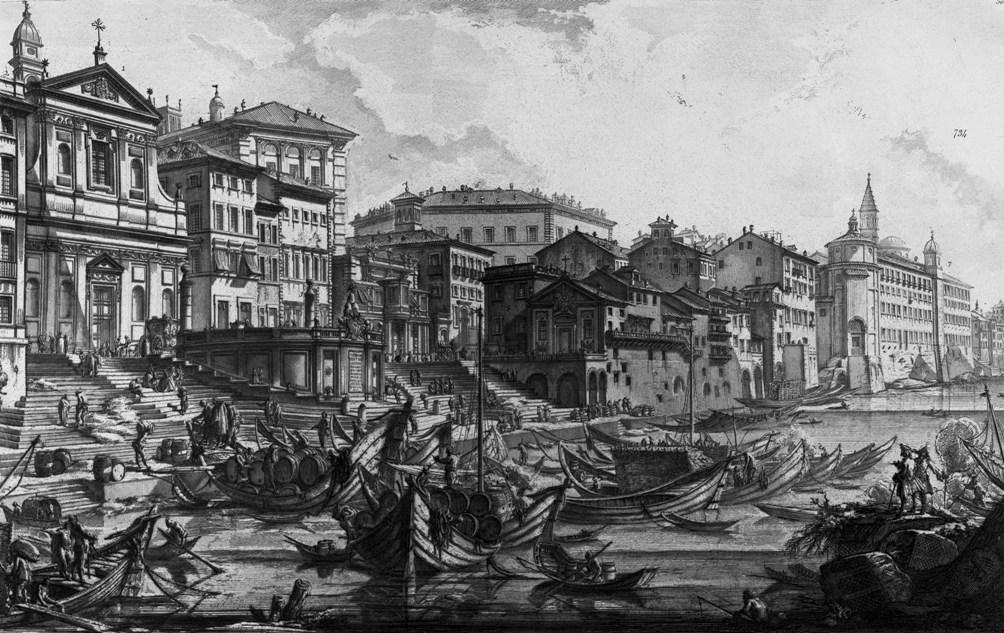 Piranesi Rome - Veduta del Porto di Ripetta