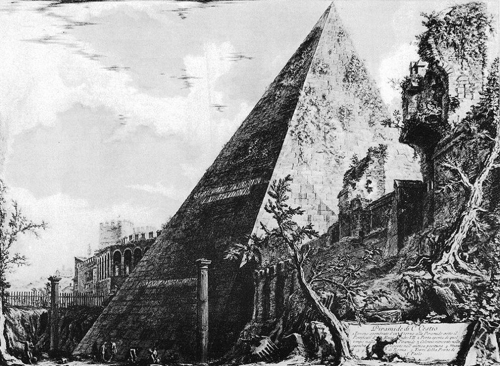 Piranesi Rome - piramide van Cestius