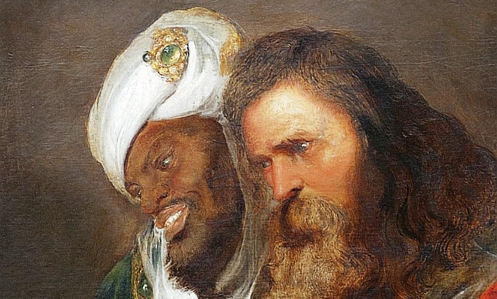 Koning Guy de Lusignan en Saladin op een schilderij van Jan Lievens uit 1625 (foto Wikimedia)